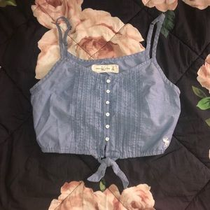 Denim blue crop top (Small)